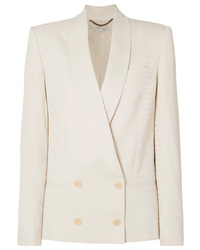 Stella McCartney Double Breasted Croc Effect Satin Jacquard Blazer