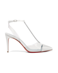 Christian Louboutin Nosy 85 Crystal Embellished Satin And Pvc Pumps