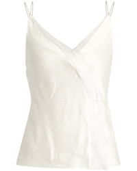 Roksanda Lymer Silk Satin Seersucker Cami Top