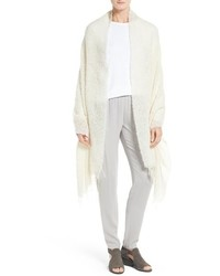 Eileen Fisher Alpaca Blend Boucle Wrap