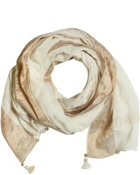 Cotton Gauze Scarf With Tassels