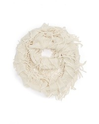 David & Young Fringe Infinity Scarf Off White One Size