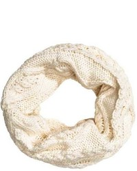 H&M Knit Tube Scarf Natural White Kids