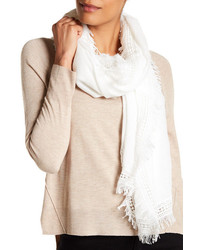 Melrose And Market Crochet Fringe Trimmed Scarf