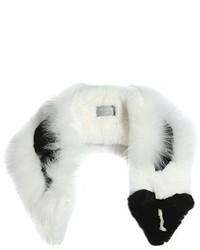 Raccoon Shaped Rex Fox Fur Scarf