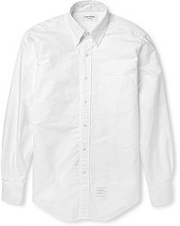 White Seersucker Long Sleeve Shirt