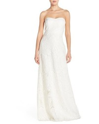 Jenny Yoo Sadie Sequin Lace Strapless A Line Gown