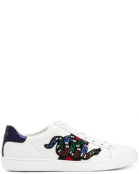 Gucci Ace Sequin Snake Sneakers