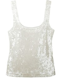 P.A.R.O.S.H. Sequin Embellished Tank Top