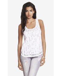 Sequin Embellished Shirttail Tank