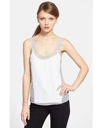 White Sequin Tank