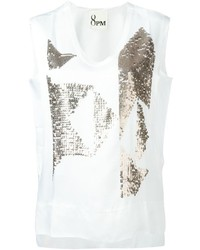 8pm Sequined Motif Tank Top