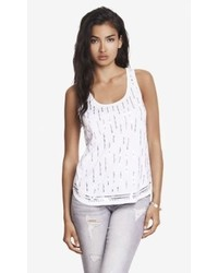 Express Sequin Embellished Shirttail Tank