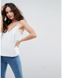 Sequin cami with v neck medium 4420606