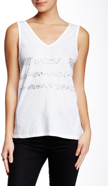 DKNY Sequin Patchwork Tank