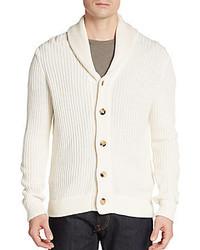 Ribbed silk cotton shawl cardigan medium 383928