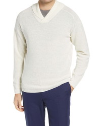 Peter Millar Crown Cool Shawl Collar Wool Blend Sweater