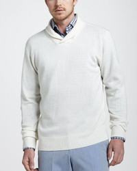 Peter Millar Cotton Linen Shawl Sweater