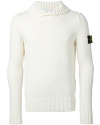 Stone Island Ribbed Shawl Collar Sweater