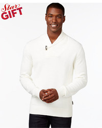 Sean John Toggle Shawl Collar Sweater
