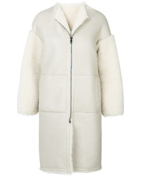 Jil Sander Zipped Long Shearling Coat