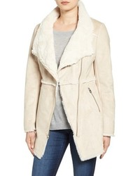 Jessica Simpson Asymmetrical Faux Shearling Jacket