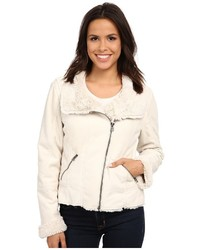 Dylan By True Grit Silky Suede Fur And Bonded Short Seam Jacket