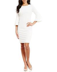 a95bdcfa501 ... Calvin Klein Petite Bell Sleeve Sheath Dress