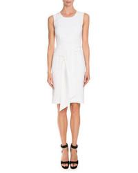 Givenchy Sleeveless Tie Waist Sheath Dress