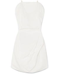 MM6 MAISON MARGIELA Draped Cotton Poplin Mini Dress