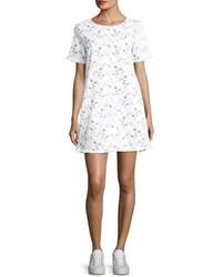 Current/Elliott The Fray Edge Cotton Shift Dress White