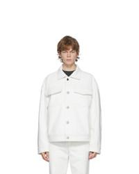 Acne Studios Off White Canvas Jacket