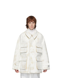 Maison Margiela Off White Raw Canvas Military Jacket