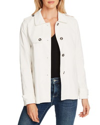 CeCe Stretch Cotton Twill Trench Jacket