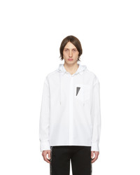 Neil Barrett White Hooded Shirt