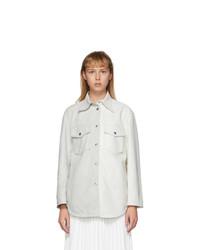MM6 MAISON MARGIELA White Leather Two Tone Shirt