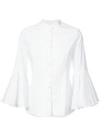Oscar de la Renta Bell Sleeve Shirt
