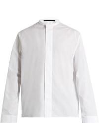 Haider Ackermann Byron Stand Collar Cotton Shirt