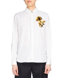 Kenzo Casual Fit Shirt With Flower White