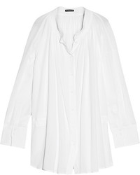 Ann Demeulemeester Cotton Voile Shirt White