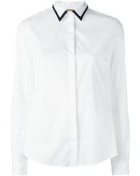 Fay Contrast Collar Shirt