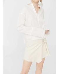 Mango Frayed Linen Shirt