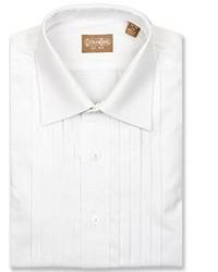 David's Formal Wear Gitman Bros 5 Pleat Spread Collar Tuxedo Shirt Size 175 X 35 White