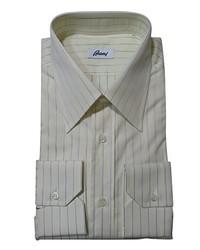 Brioni Ivory Striped Shirt 39 155