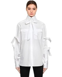 Karl Lagerfeld Karl Bow Cotton Poplin Shirt