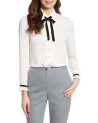 Ted Baker London Pleated Frill Tie Neck Shirt