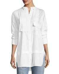 Burberry Magpie Linencotton Pintucked Shirt