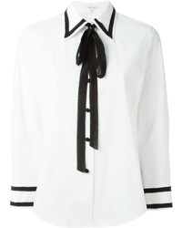 Marc Jacobs Contrast Frayed Trim Shirt