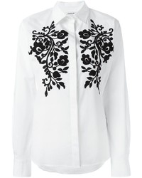 P.A.R.O.S.H. Flower Patched Shirt