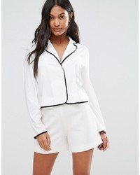 Boohoo Pajama Style Shirt With Piping